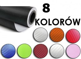 Folia rolka carbon 3D bordowa 1,27x30m