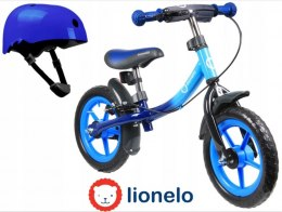 DAN PLUS Lionelo rowerek biegowy 18m+ 12 cali do 27kg - Blue