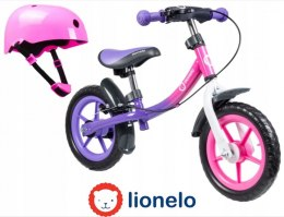 DAN PLUS Lionelo rowerek biegowy 18m+ 12 cali do 27kg - Pink