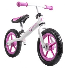 FIN PLUS Lionelo rowerek biegowy 18m+ 12 cali do 27kg - white/pink