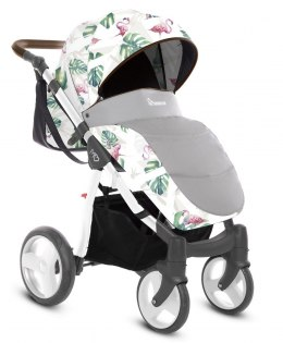 MOMMY SUMMER 2w1 BabyActive wózek głęboko-spacerowy - FLAMINGO 11
