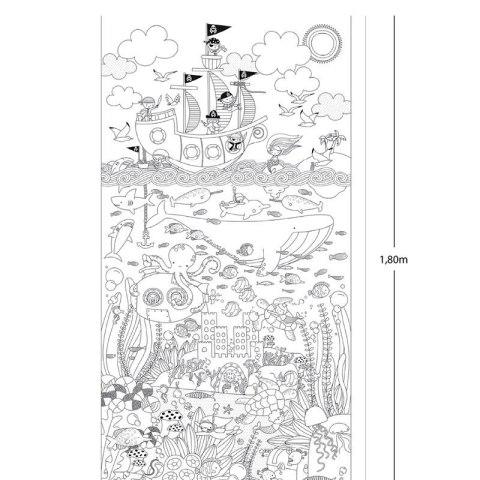 Gigantyczny Plakat Do Kolorowania Apli Kids Morska