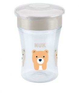 NUK EVOLUTION Magic Cup Kubek niekapek 8m+ 230ml - SZARY