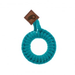 Hi Little One - gryzak sznurkowy Teether wood and cotton dark teal